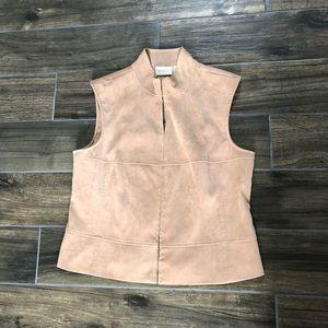 Worthington stretch vest tan size 16